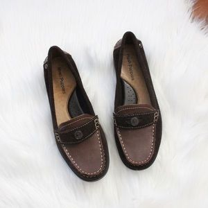 Hush Puppies brown suede loafers